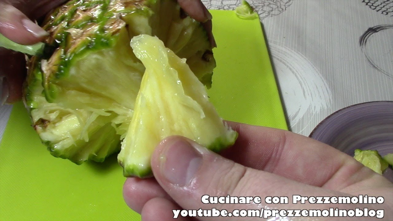 How to peel and cut a pineapple properly - Easy Tutorial