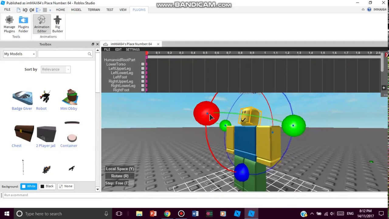 Roblox How To Animate Models With A Tool How To Animate Your Model In Roblox Studio Youtube