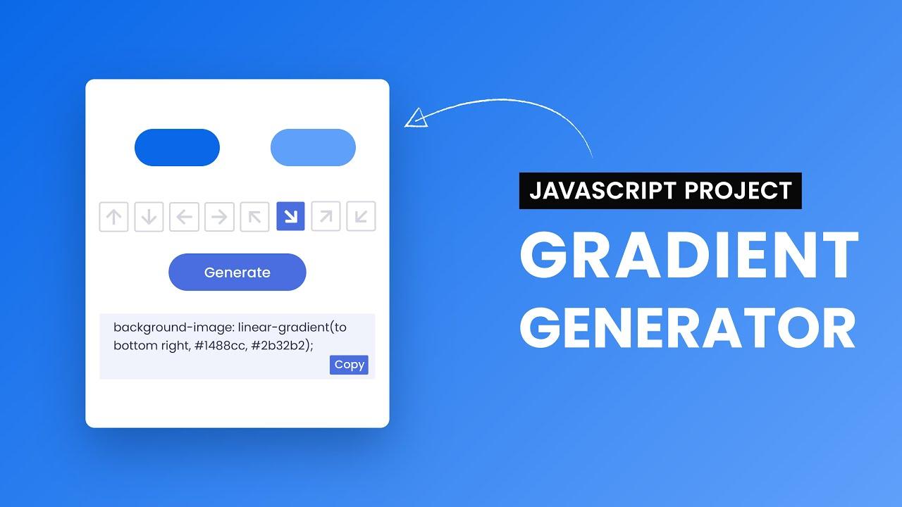 Gradient Generator | HTML, CSS, JavaScript Project