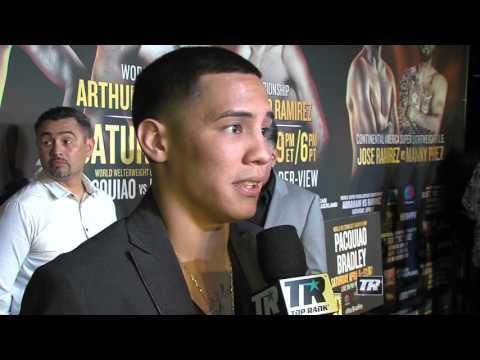 Oscar Valdez Interview |  Undercard Presser | Pacquiao-Bradley