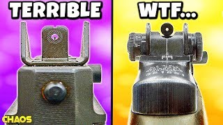 Top 10 UGLIEST Iron Sights in Cod History (UPDATE)