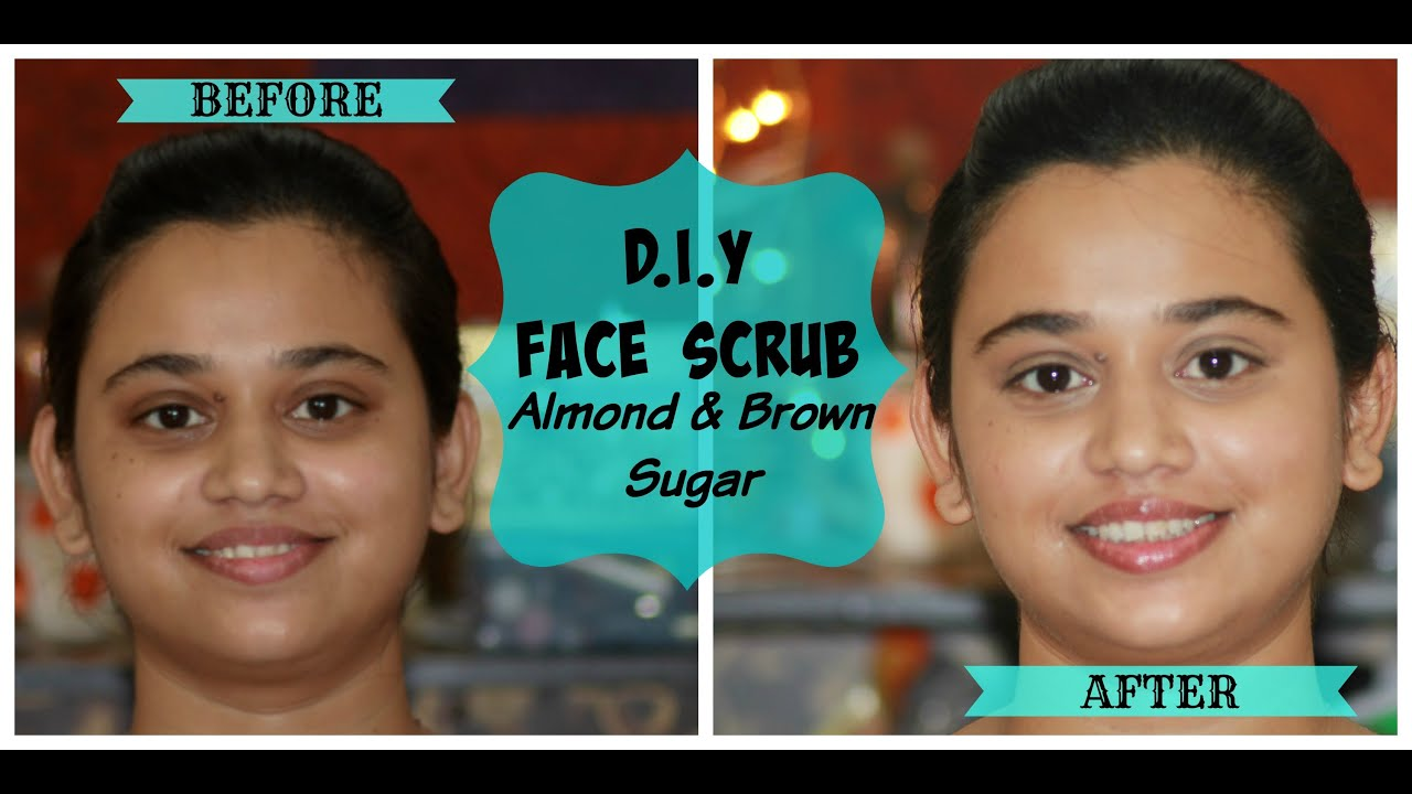 Diy Face Scrub  Almond & Brown Sugar Homemade Face Scrub