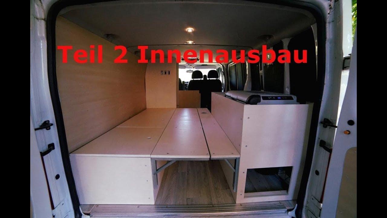 camper ausbau folge 7 teil 2 innenausbau bett k hlbox reisepl ne youtube. Black Bedroom Furniture Sets. Home Design Ideas