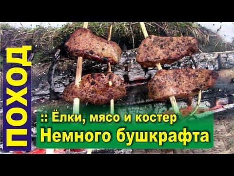 Поход в лес. Немного бушкрафта - Тайга, мясо на костре и лесной чай