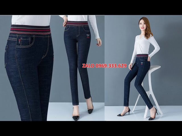 [Thời Trang Nữ Hoàng] Quần JEAN nữ 2020 bó sát đẹp cao cấp - Quần jean nữ lưng cao màu đen hàng hiệu tphcm, Hà Nội