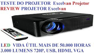 REVIEW PROJETOR Excelvan CL720D LED Projector with Digital TV Gearbest