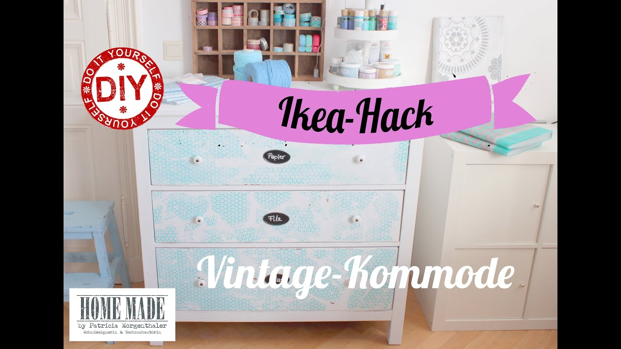 how to i ikea kommode im shabby stil i deko inspirationen selbstgemacht youtube. Black Bedroom Furniture Sets. Home Design Ideas