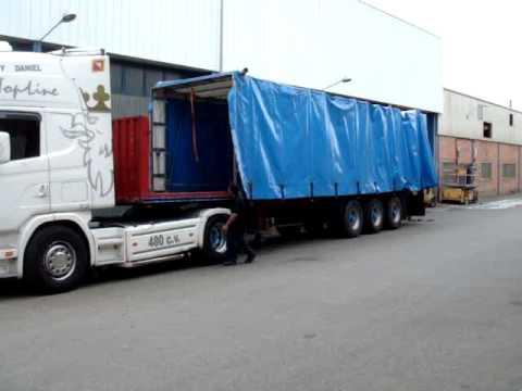 Toldos porteria para camiones youtube for Toldos para camiones
