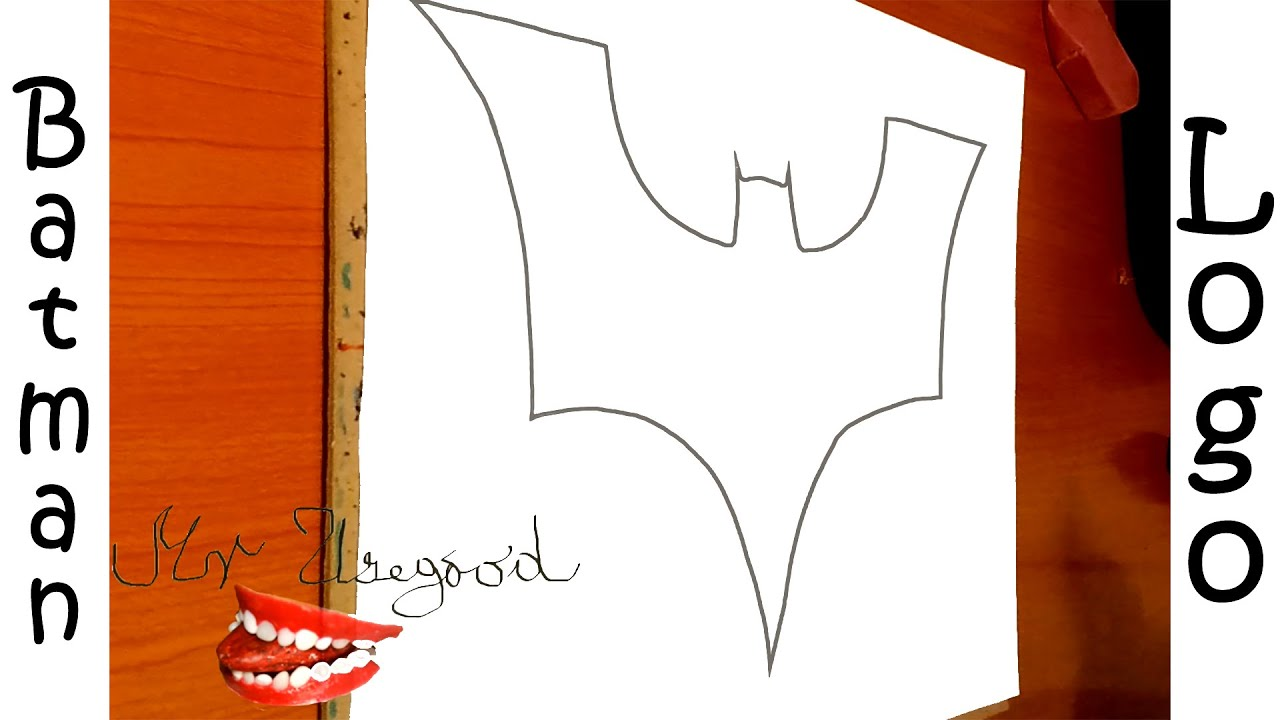 How to draw batman easy drawingnow - How To Draw Batman Logo Step By Step Easy Dark Knight For Kids On Paper Pencil Tutorial 1 2 Youtube
