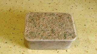 Бутербродная закуска из сала / Sandwich appetizer of bacon