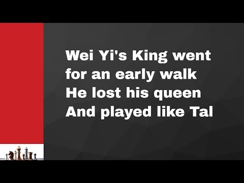Wei Yi's King Went For An Early Walk| He Lost His Queen| And Played Like Tal