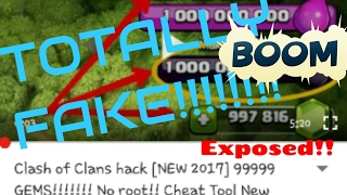 Clash Of Clans| TOTALLY FAKE COC TRICK EXPOSED!!!!!! 😲😲