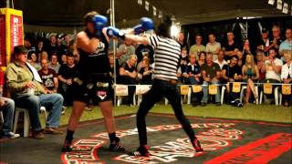 Lacey Rochelle fights The Beaver - Outback Fight Club -Wynnum 2015