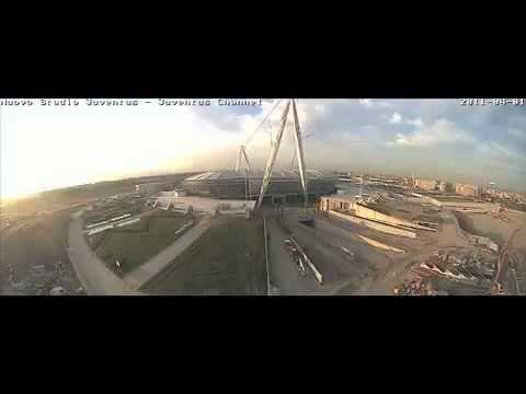 Строительство нового стадиона Ювентуса за три минуты