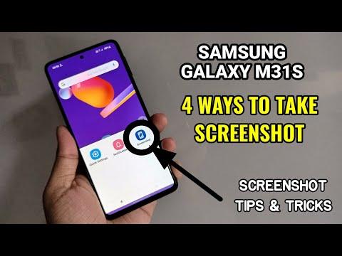 SAMSUNG GALAXY M31 : 3 WAYS TO TAKE SCREENSHOTS You can take Screenshot by using three methods on th.