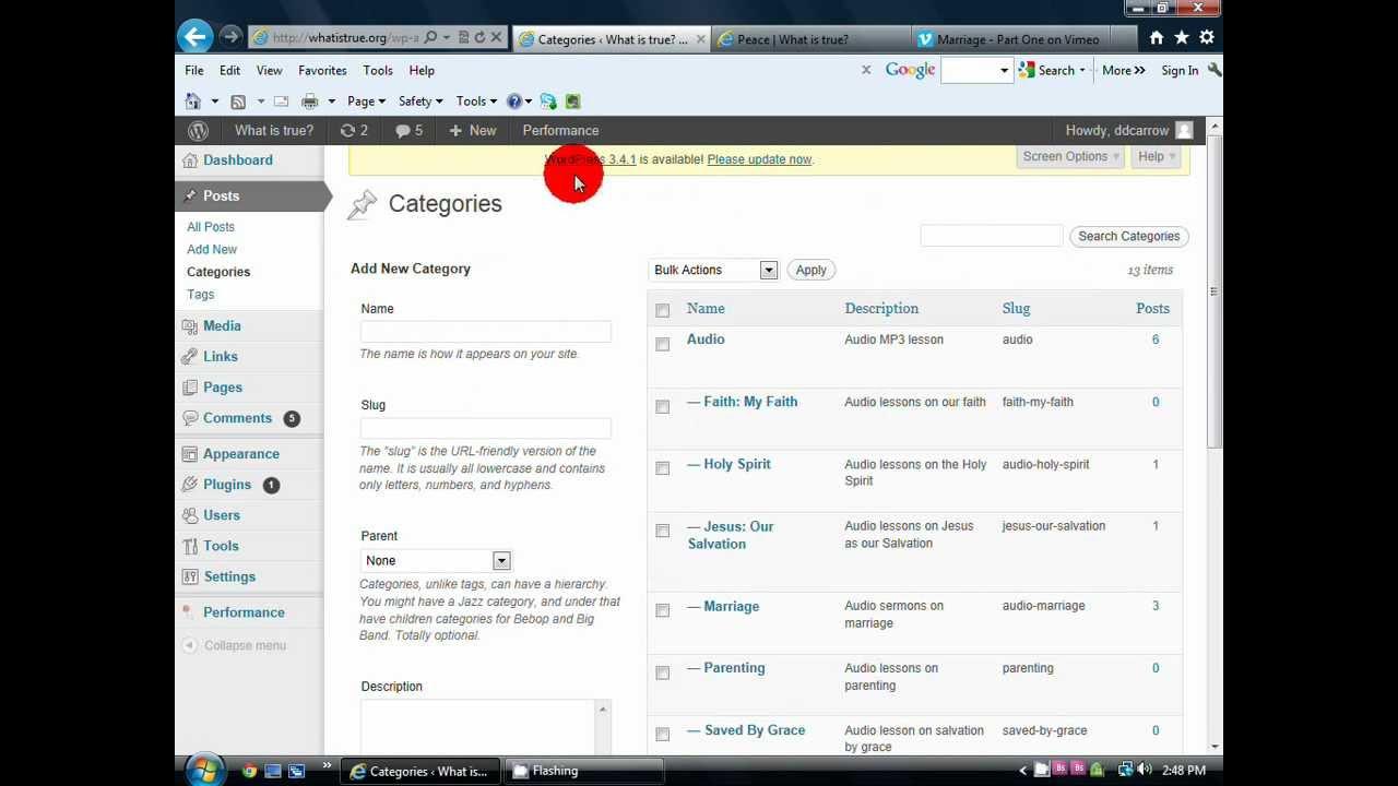 How to Add Vimeo Video to Wordpress Blog.avi