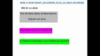 MISE A GRATUIT 2500HD 2015 GEANT JOUR TÉLÉCHARGER
