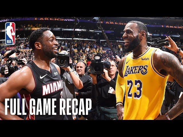 HEAT vs LAKERS   Wade & LeBron's Final Match-Up    December 10, 2018