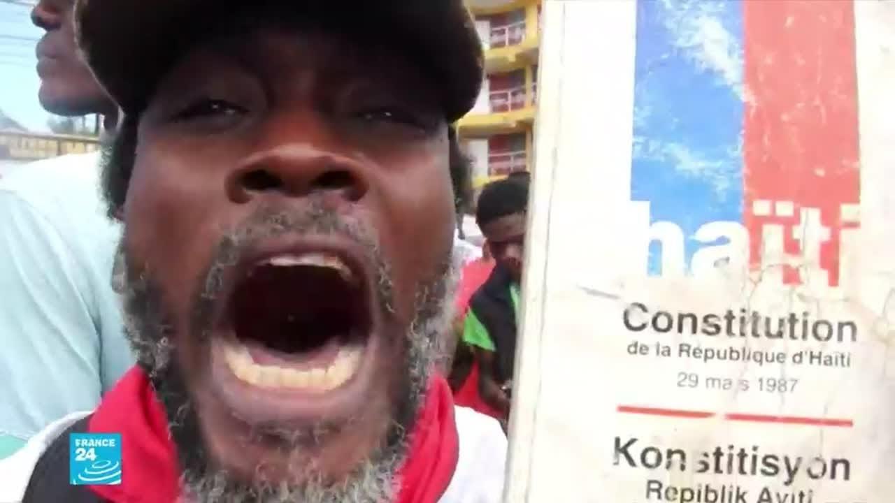 الآلاف يتظاهرون في هايتي تنديدا بـ-دكتاتورية- الرئيس جوفينيل مويز  - 16:01-2021 / 3 / 2
