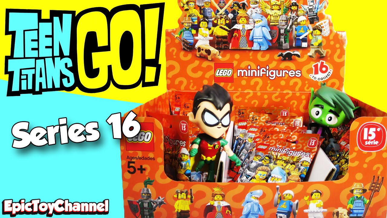 Giant Lego Minifigures Series 16 Blind Bags With Teen Titans Go