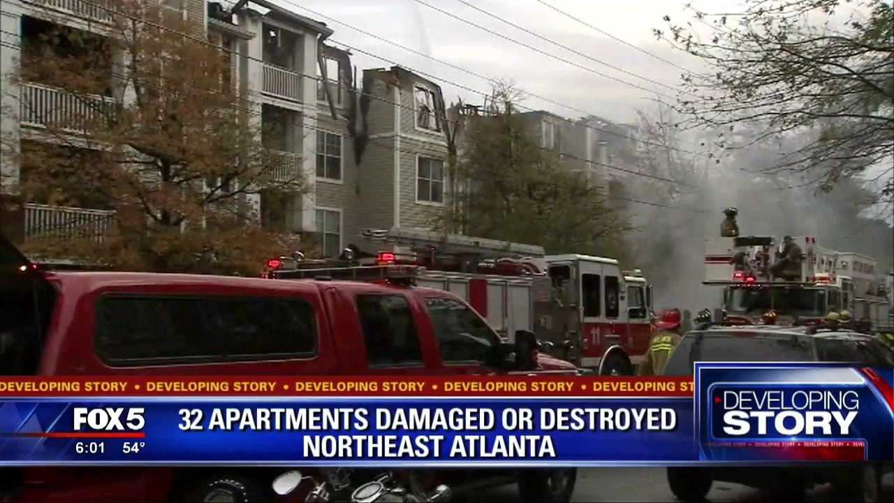 Fire Crews Battle Massive Buckhead Apartment Fire