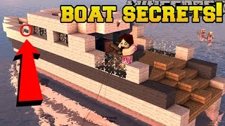 Minecraft: BOAT SECRETS!!! - Captain Seagull