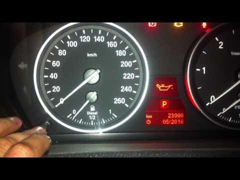 BMW X5 E70.Сброс сервисного интервала замены масла. Проверка температуры двигателя
