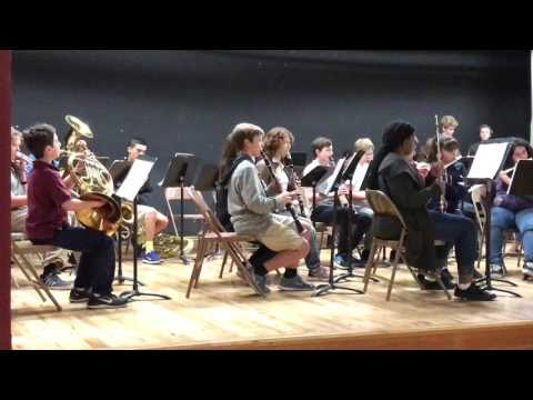 Doolen Middle School Honors Band - Lady Gaga medley