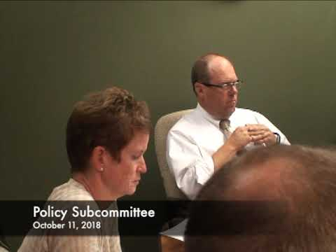 Policy Subcommittee 10.11.18