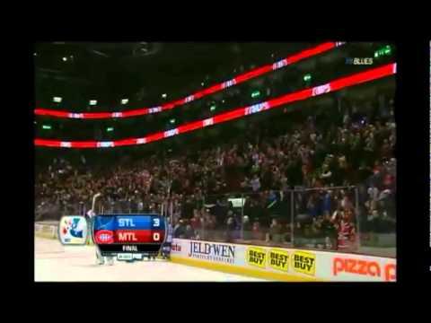Jaroslav Halak standing Ovation St. Louis Blues vs Montreal Canadiens 10 Jan 2012