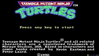 Teenage Mutant Ninja Turtles gameplay (PC Game, 1989)