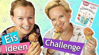 DIY Eis-Ideen Challenge 🍦 Eva & Kathis Zebra Eis 🍦 Super lecker & einfach mit Dr.Oetker | Werbung*