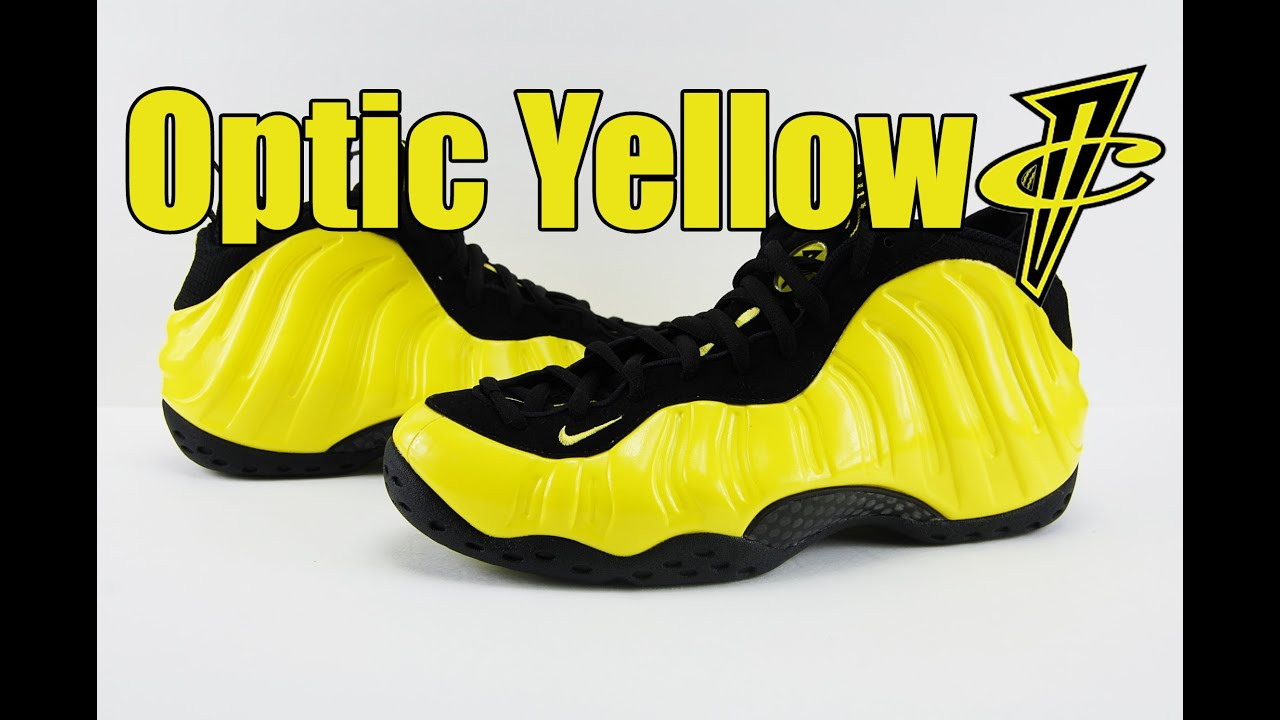 90bbbae761c Nike Air Foamposite One Optic Yellow Wu-Tang Review - YouTube