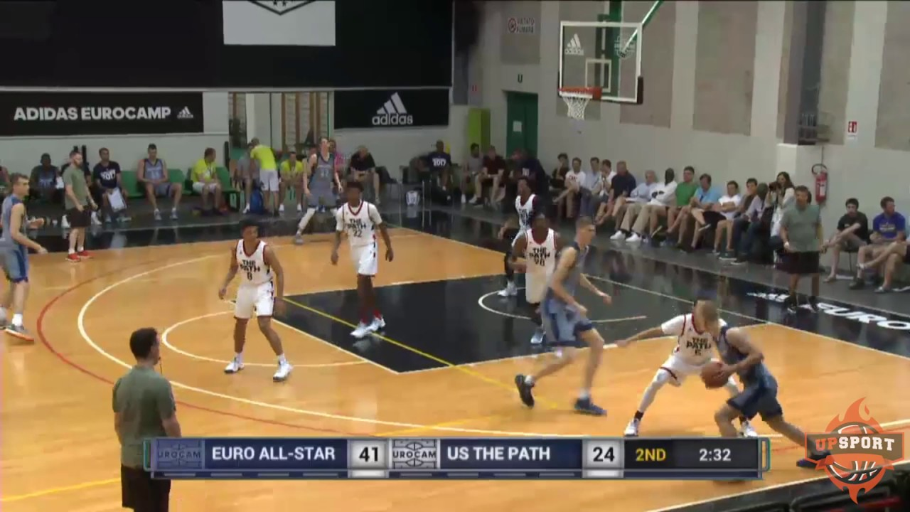 Highlights Euro All Star Team 1 Vs Usa The Path 91 67 Adidas Eurocamp 6 11 2017