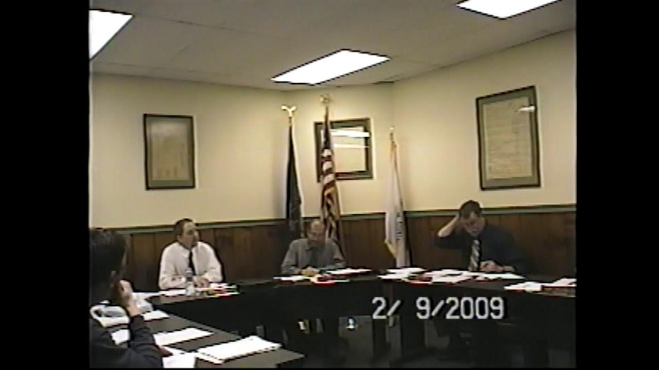 Champlain Village Board Meeting  2-9-09