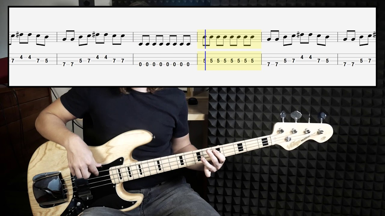 White Wedding Chords.Billy Idol White Wedding Bass Cover With Tabs In Video