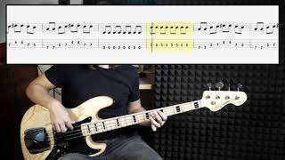 Billy Idol - White Wedding (bass cover with tabs in video)