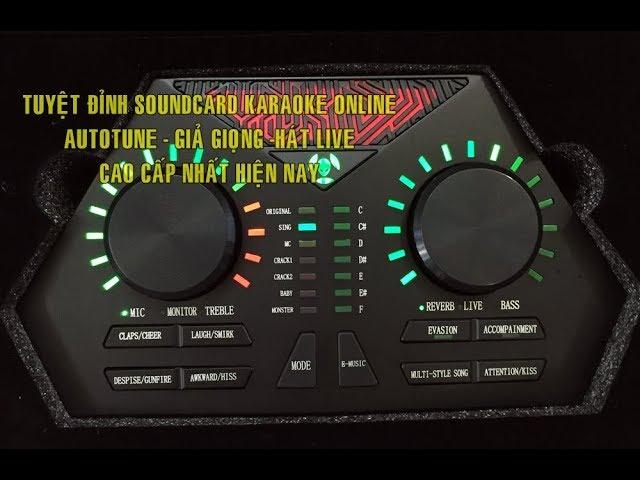 Tuy?t ??nh Soundcard hát live chuyên nghi?p 730 MAX PRO - autotune - gi? gi?ng