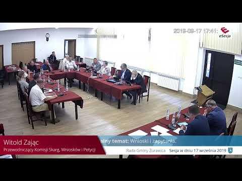 Gmina Żurawica – XIII Sesja Rady Gminy Żurawica 17.09.2019