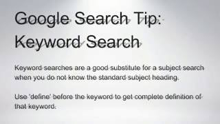 """Google Search Tip: Use """"Define"""" for instantly find word definition"""