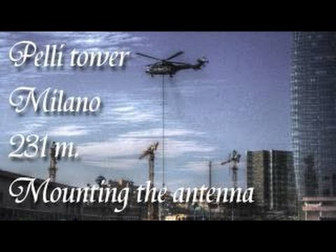 MilaNo Comment news - Milano Porta nuova spire unicedit tower con elicottero super puma