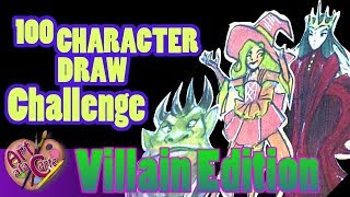 "100 CHARACTER DESIGN CHALLENGE EPISODE 13 ""Villains"""
