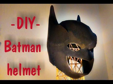 Batman Helmet - Batman vs Superman Dawn of Justice Movie | How To Make | DIY