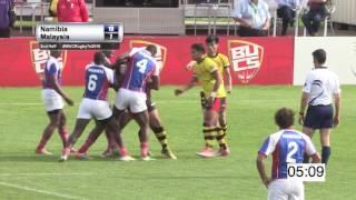 Namibia vs Malaysia Men - 7th World University Rugby 7 Championship 2016 – Swansea
