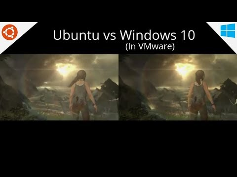 Linux Gaming (Ubuntu) vs Windows 10 on VMware Benchmarks