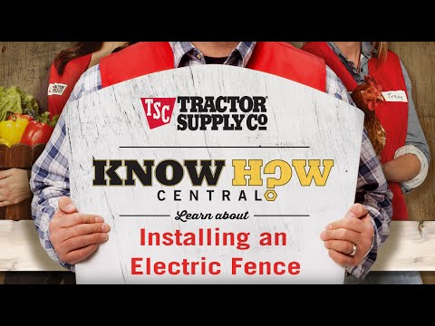 domestic electric fence wiring diagram horse neck how to install an youtube