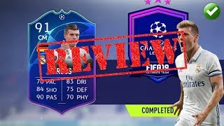 FIFA 19 PLAYER REVIEW | TOTGS 91 TONI KROOS | THE ARCHITECT!!