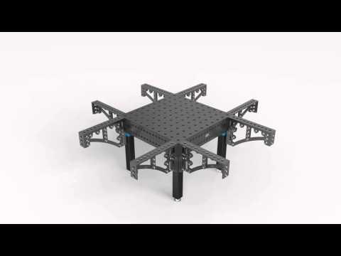 Equerre pour table de soudure siegmund youtube for Equerre pour table rabattable