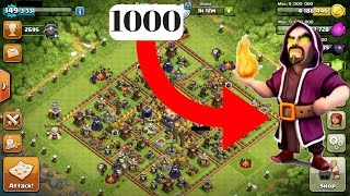 1000 Wizard VS MAX Town Hall 11 Bases | Clash Of Clans