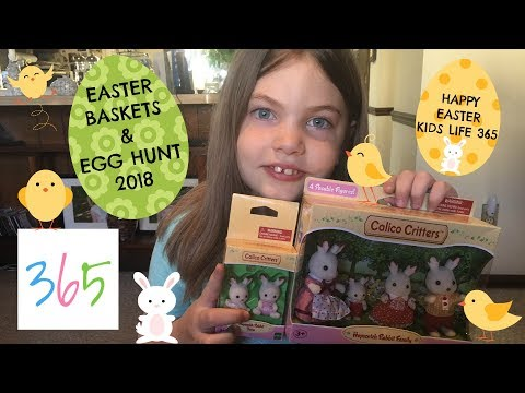 WHAT'S IN OUR EASTER BASKETS 2018 🐰| Calico Critters Transformers Shopkins | KIDS LIFE 365 | 4.1.18